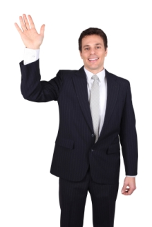 man-waving